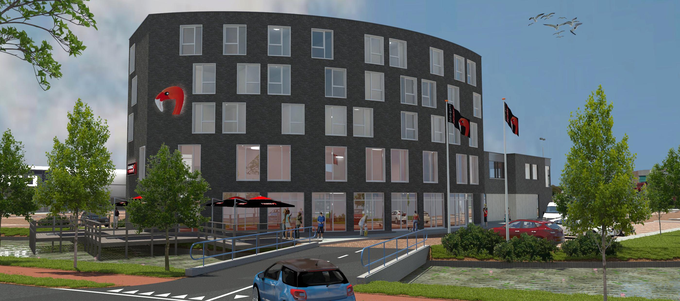 render hotel, restaurant en casino te Velserbroek
